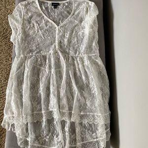 white lace babydoll top